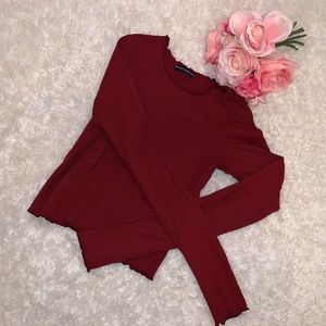 Brandy Melville Tops - NWOT Brandy Melville Thick Cotton Ruffle Top